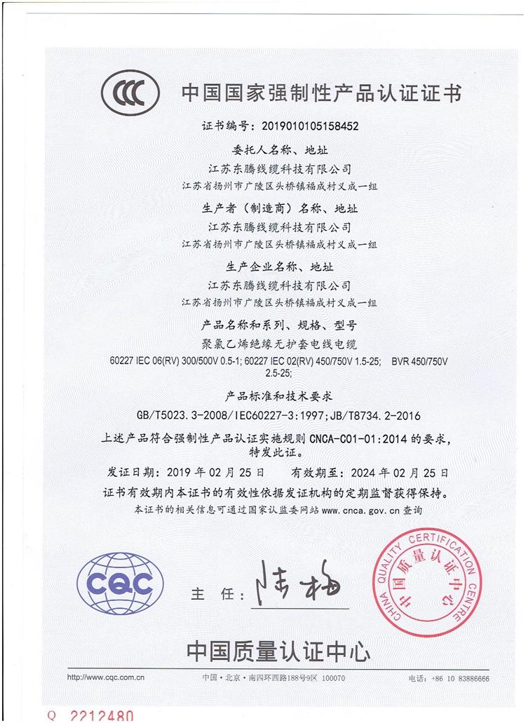 RV CCC证书 001
